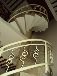 Kobe House, big spiral staircase